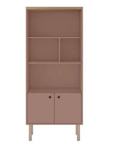 Modern 5 Shelf Bookcase Cabinet
