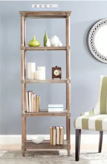 Washed Natural Pine 5-Tier Bookcase