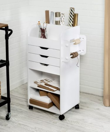 Craft Storage Cart in White