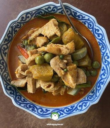 Oh Happy Bear Gang Gai Fak Tong (Thai Chicken Curry With Pumpkin)