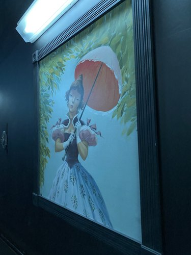 haunted mansion woman umbrella portrait
