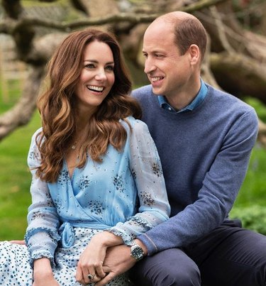 kate middleton and prince william anniversary photo outside