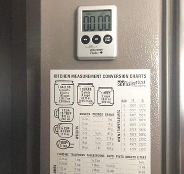 Talented Kitchen Magnetic Kitchen Conversion Chart on fridge