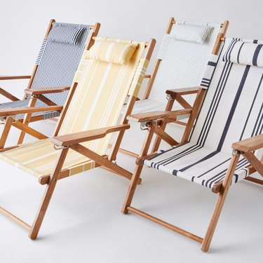 Business and Pleasure Vintage-Inspired Striped Beach Chair