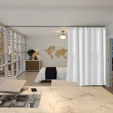 ceiling mounted curtain kit