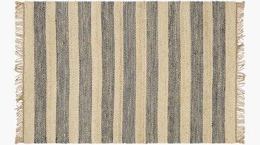 striped jute rug