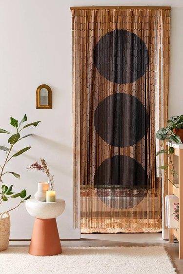 bamboo beaded curtain room divider