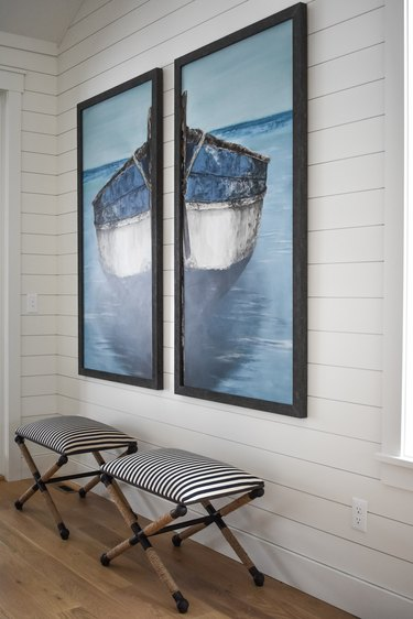 Coastal hallway designed by Interior Impressions