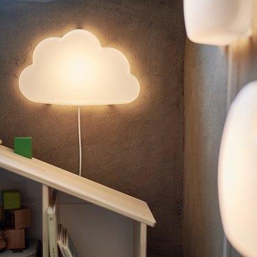 IKEA cloud-shaped LED wall lamp
