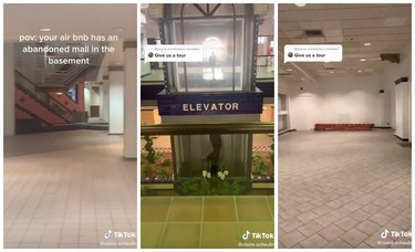 airbnb with abandoned mall in basement on tiktok