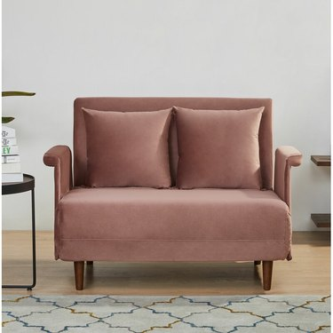 velvet sleeper lounge chair