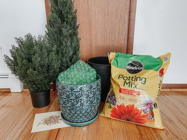 Here's what you'll need to plant your faux bushes to make them look real.
