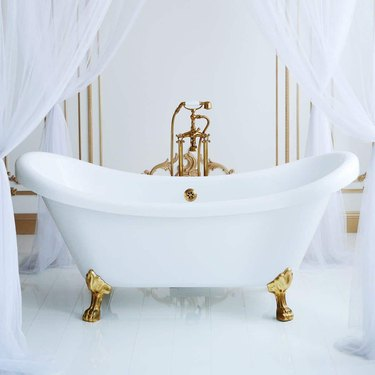 FLORENCE ACRYLIC DOUBLE SLIPPER CLAWFOOT TUB