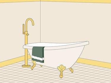 clawfoot tub illustration