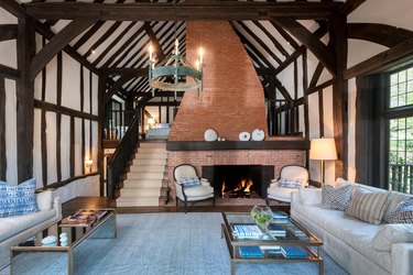 ariana grande montecito house living room