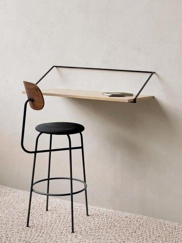 wall-mounted Scandinavian desk for home office