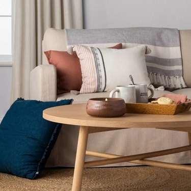 small space shaker style wood coffee table