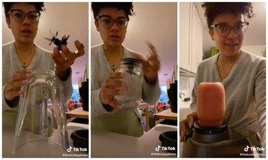 tiktok hack mason jar blender