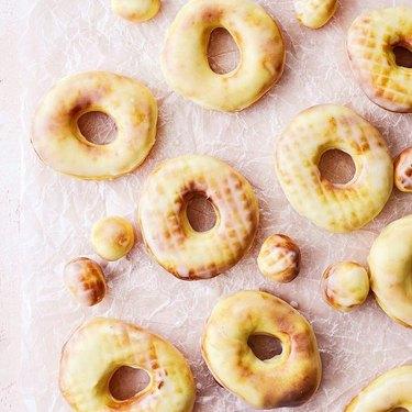Simply Scratch Air Fryer Glazed Doughnuts