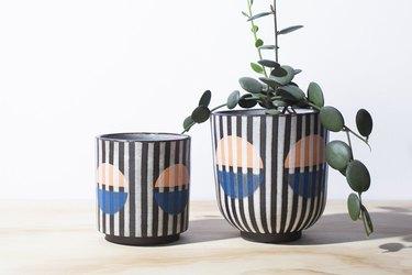 Not Work Related handmade stripe planter