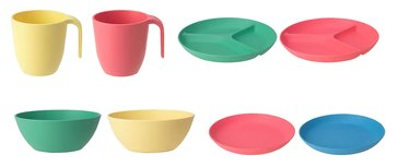 IKEA plates in various colors