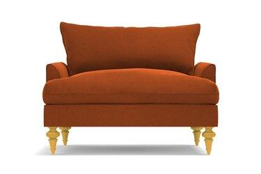 orange oversize chair