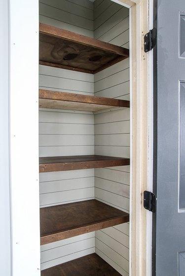 shiplap wall ideas in closet
