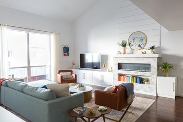 shiplap wall ideas in living room