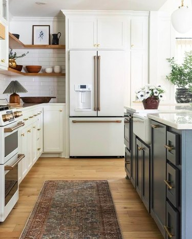 kitchen with table lamp by Rebecca Gibbs Design