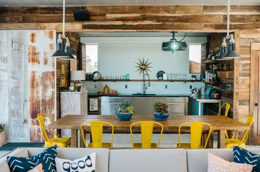 Bright indoor/outdoor living space designed by Marian Louise Designs