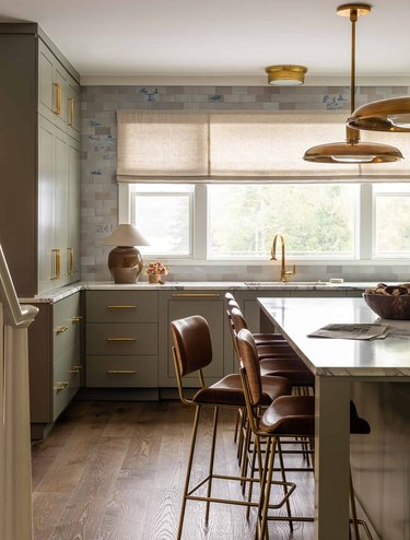 kitchen with table lamp designed by Heidi Caillier Design