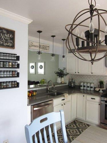 kitchen lighting ideas small kitchen DIY chandelier