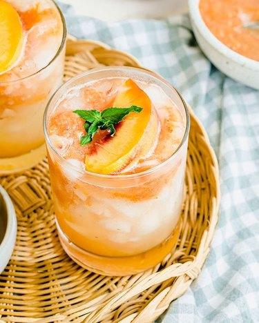 Sweet Cayenne Fresh Peach Lemonade