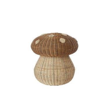 basket in the shape of a mushroom