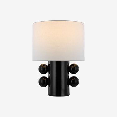lamp with black sculptural base