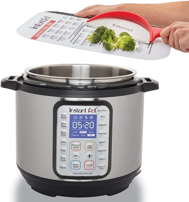 instant pot cheat sheet cutting board and instant pot