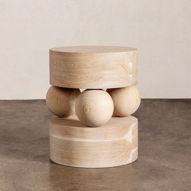 side table with sculptural shape