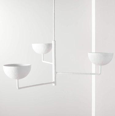 White 3 tiered pendant
