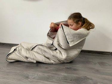 HemporganicLife Kids Hemp Linen Sleeping Bag
