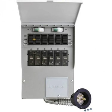 A 30 Amp 6-Circuit Manual Transfer Switch
