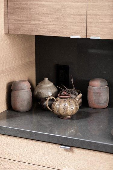 extra kitchen storage ideas pottery ceramics