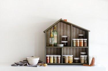 extra kitchen storage spice house hack