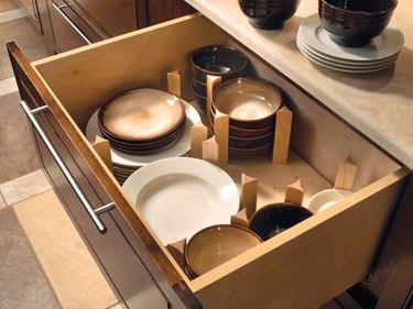 extra kitchen storage pegged drawer organizer