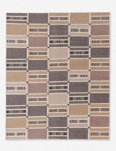 geometric multicolored rug