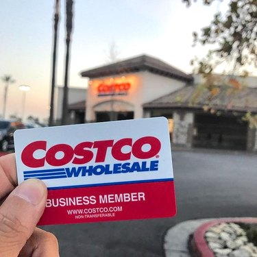 costco card and storefront