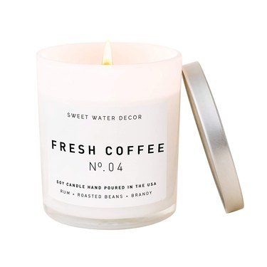 white coffee scented candle