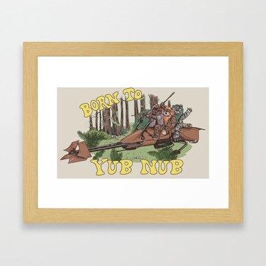 """Born to Yub Nub"" by Hillary White Framed Art Print"
