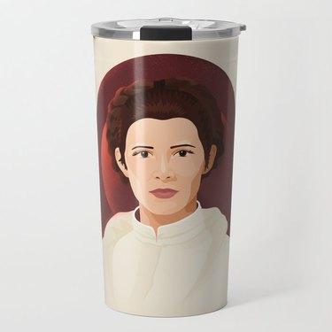 """""""Leia Skywalker"""" by Ariel Sinha Travel Mug"""