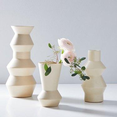 """West Elm Ceramic Totem 15"""" Vase"""