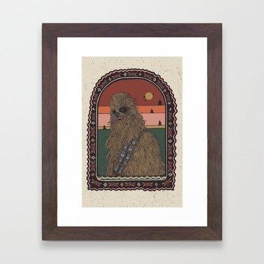 """Most Loyal Pal - Chewbacca"" by Cassidy Rae Marietta Framed Art Print"